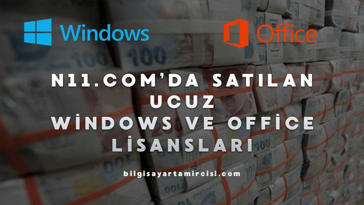 N11 Ucuz Windows ve Office Lisansı alacak olanlar mutlaka bu konuyu okumanızı tavsiye ederiz. N11 Windows lisansı hakkında detaylı bilgi.