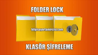Bilgisayar Klasör Şifreleme Programı Folder Lock