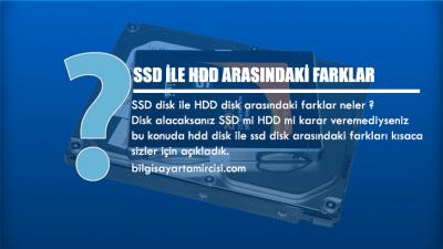 SSD ile HDD Arasındaki Farklar Nelerdir ?