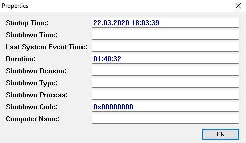 Turned On Times View programı ile bilgisayarınızın açılış kapanış saatini detayları ile öğrenebilirsiniz.