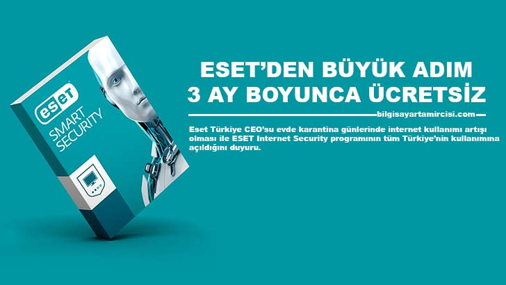 Ülkemizde koronavirüsü nedeni ile evde karantina günlerinde teknolojik cihazlarımızı casuslardan korumak için ESET Internet Security Ücretsiz Kullanıma Sunuldu