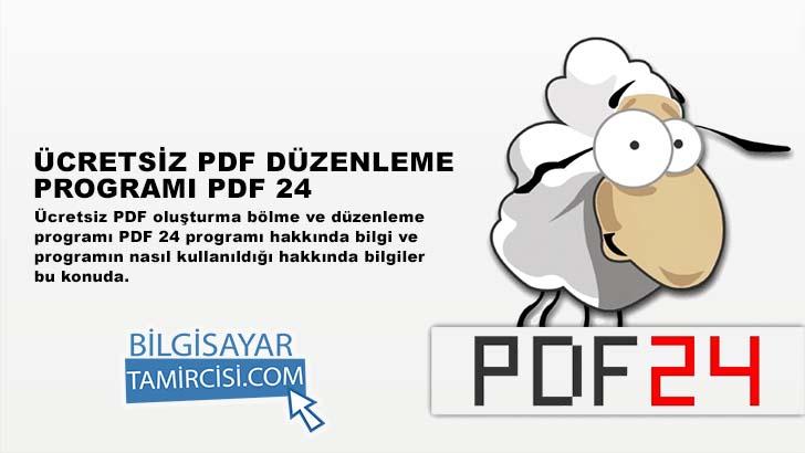 PDF Düzenleme Programı PDF 24