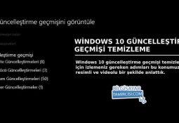 Bu konumuzda sizlere Windows 10 güncelleştirme geçmişi temizleme yöntemlerinden bahsettik. Windows güncelleştirme geçmişi temizleme
