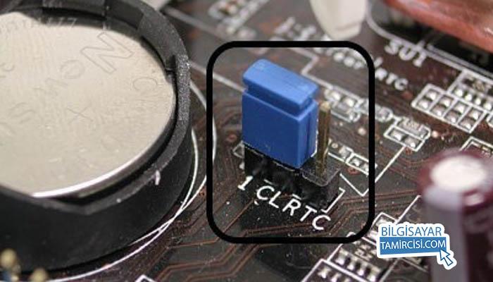 CMOS Jumper ile BİOS şifresi sıfırlama yöntemi BİOS şifresi kırma yöntemlerinden birisidir.