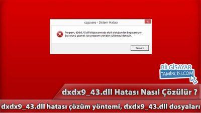 d3dx9_43.dll Hatası Çözümü