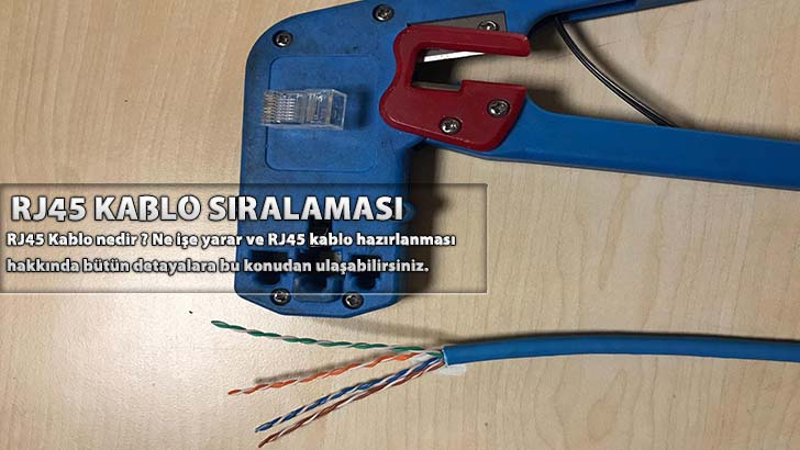 RJ45 Kablo Sıralaması