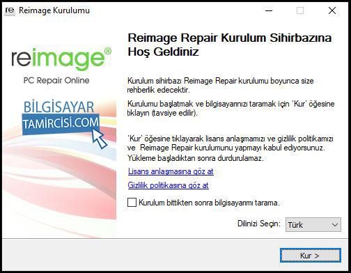 Reimage kurulumu resimli anlatım ile Reimage Windows onarım programını inceleyebilirsiniz.