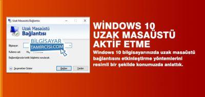 Uzak Masaüstü Bağlantısı Windows 10