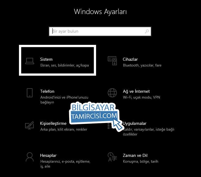 Windows 10 Sistem Ayarları ile bilgisayarınızın sistem ayarlarını kontrol edebilirsiniz.